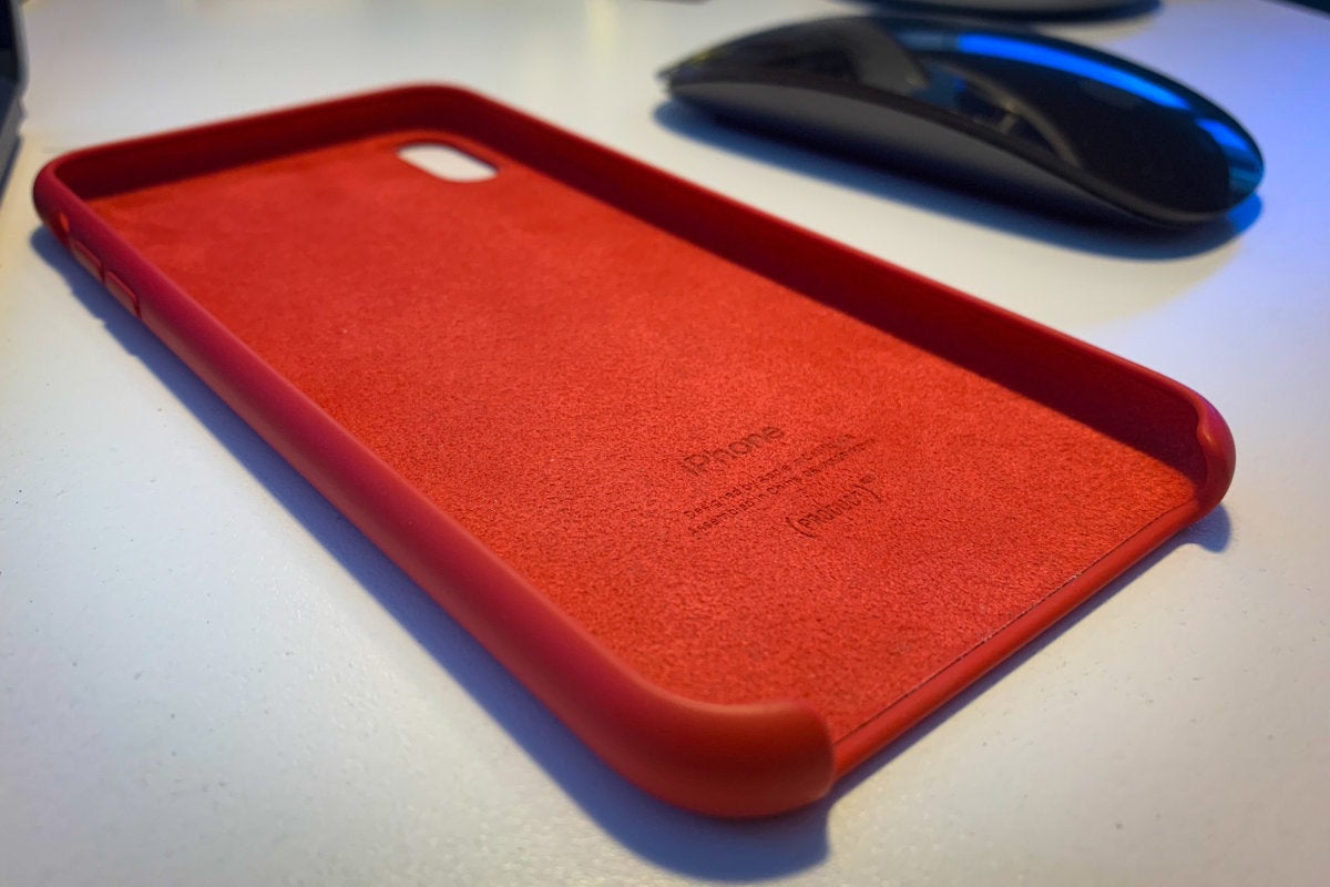 apple iphone xs max silicone case product red