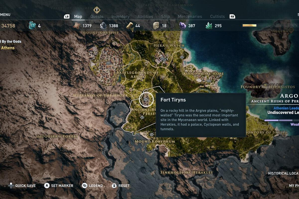 Assassin S Creed Odyssey S Hidden Historical Locations Map Is Stuffed With Ancient Greek Lore Pcworld