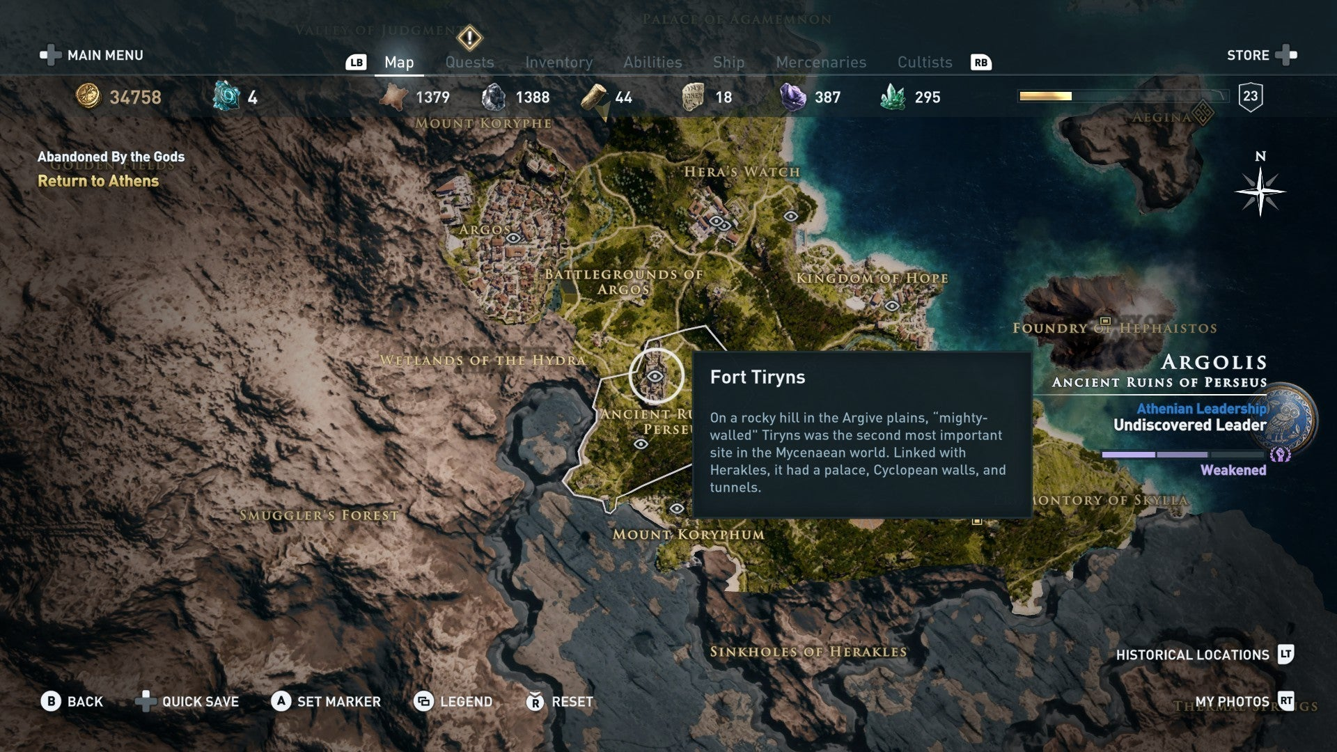 Assassin S Creed Odyssey S Hidden Historical Locations Map Is
