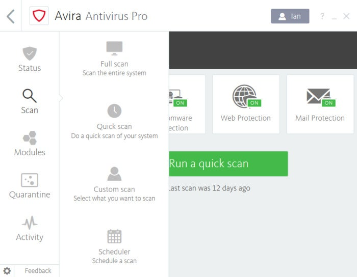 avira mobile security login