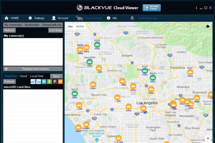 BlackVue dashcams share cars' mapped GPS locations, stream video feeds