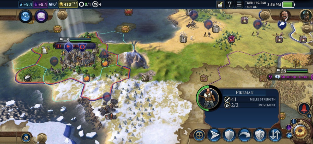 civilization vi iphone map