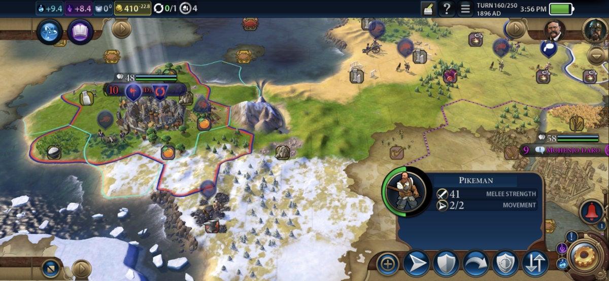 civilization vi iphone map