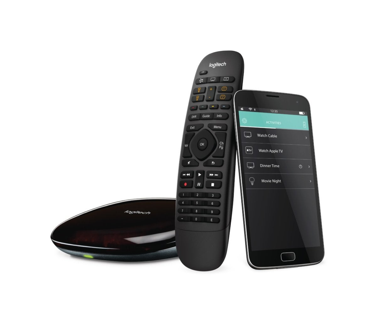 Simple Remote Black Logitech Harmony Smart Control W// Smartphone App