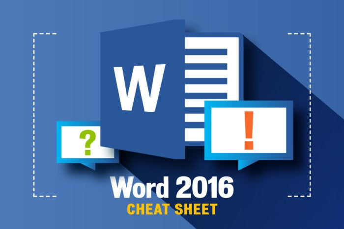 Word 2016 Cheat Sheet Computerworld