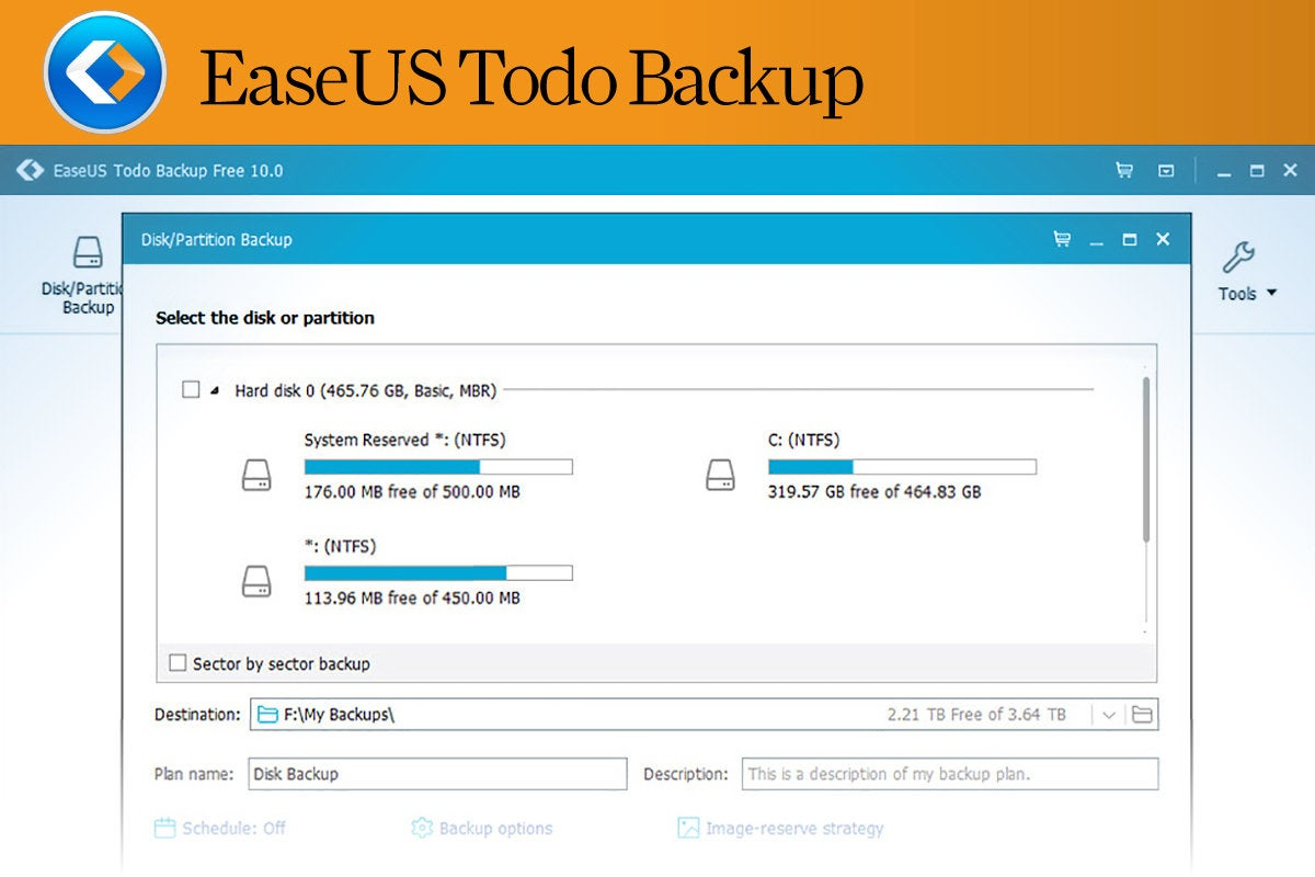 Computerworld  >  Free Apps for Windows 10 > #08 - EaseUS Todo Backup