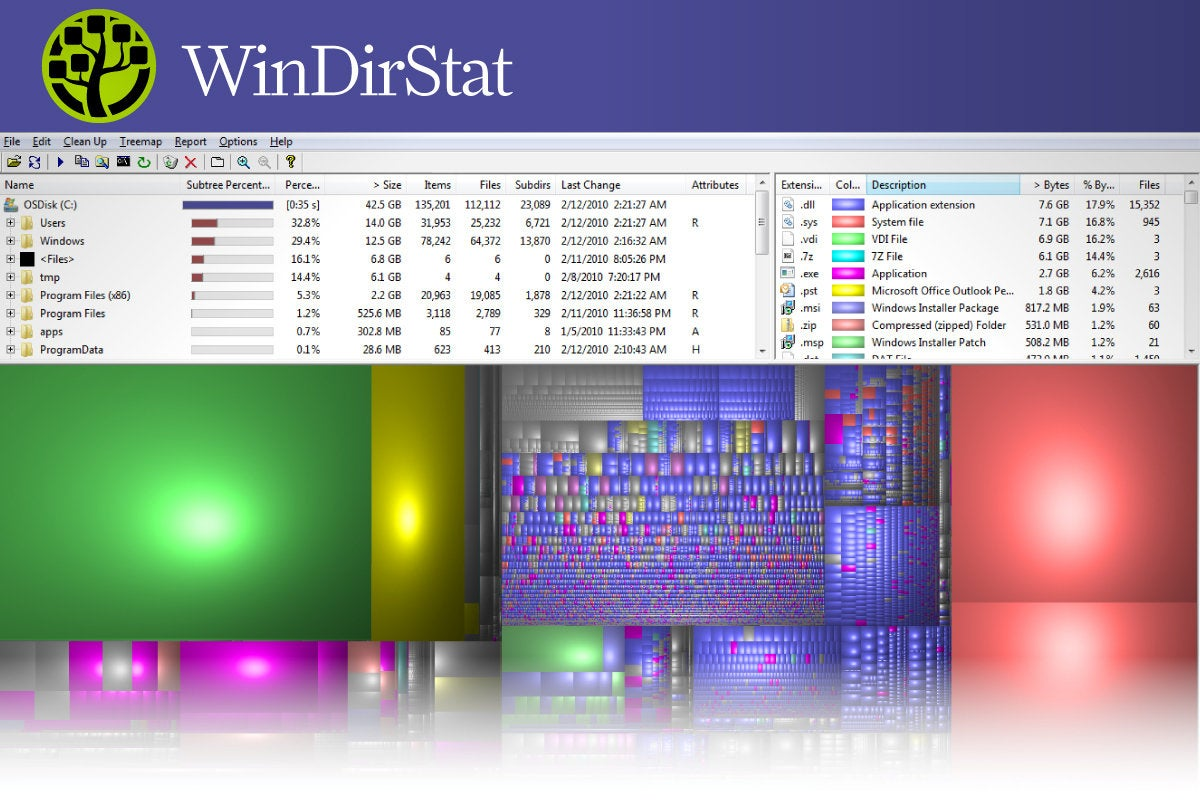 Computerworld  >  Free Apps for Windows 10 > #11 - WinDirStat [Windows Directory Statistics]