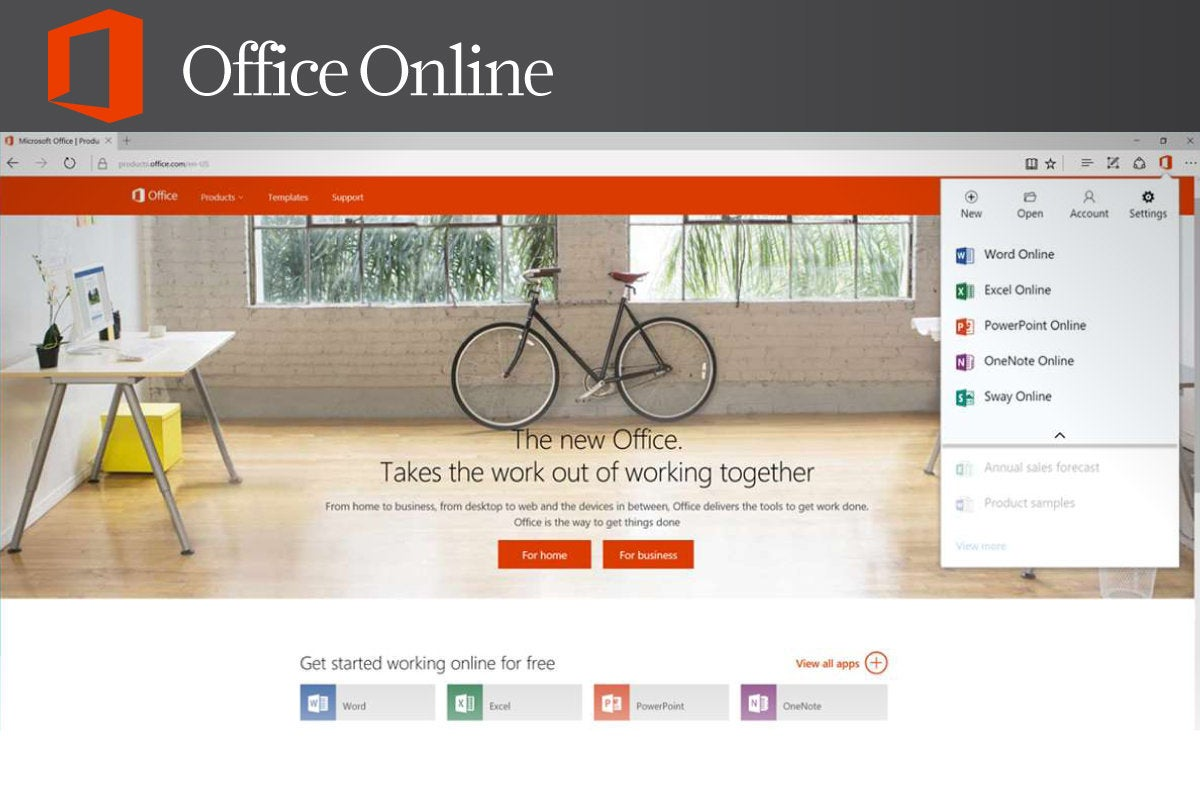 Computerworld  >  Free Apps for Windows 10 > #18 - Office Online
