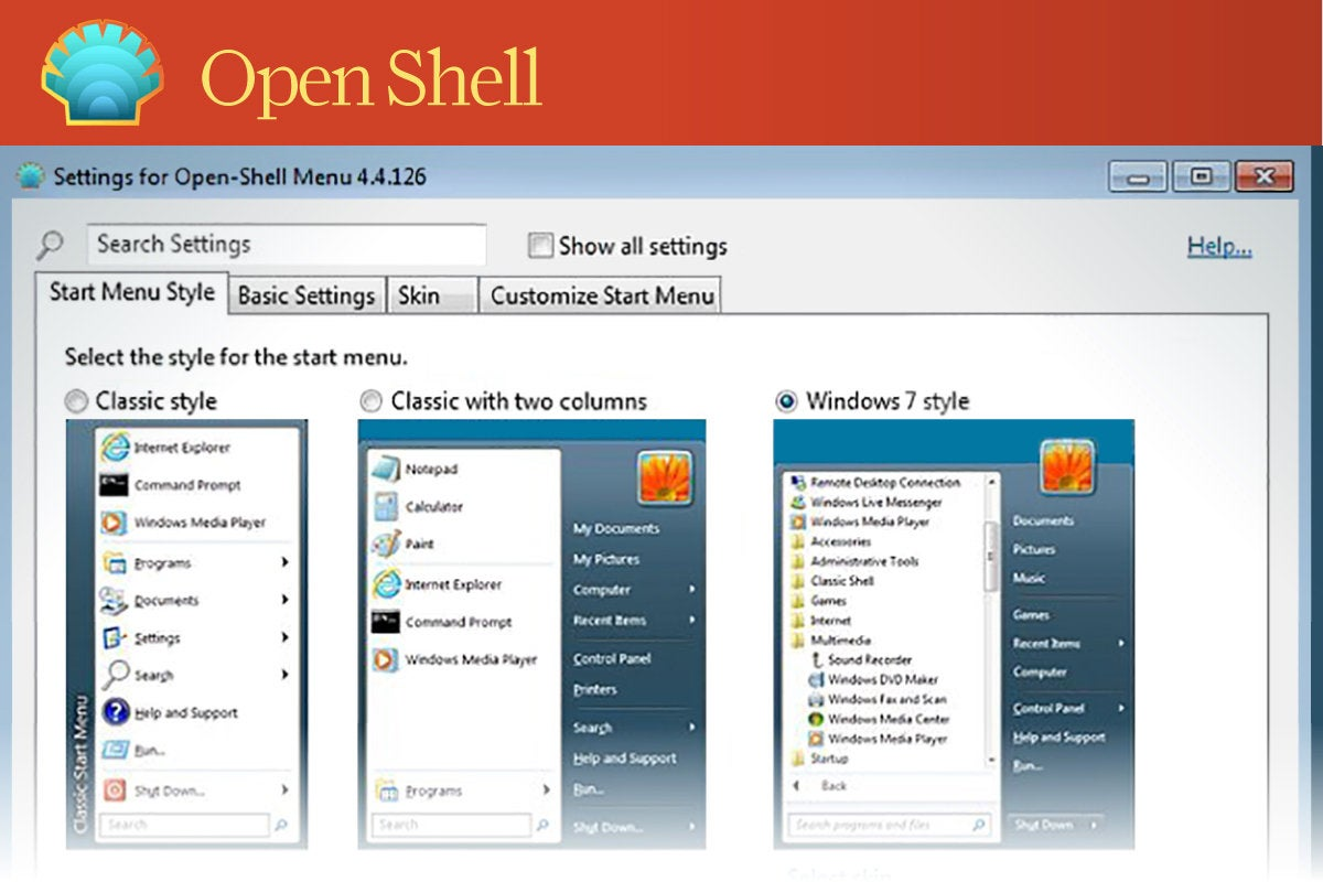 Computerworld  >  Free Apps for Windows 10 > #30 - Open Shell