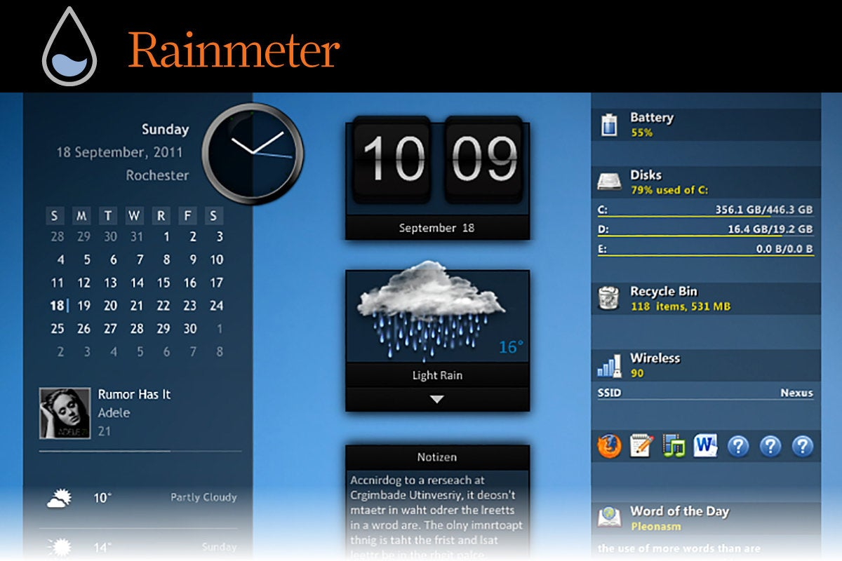 Computerworld  >  Free Apps for Windows 10 > #34 - Rainmeter