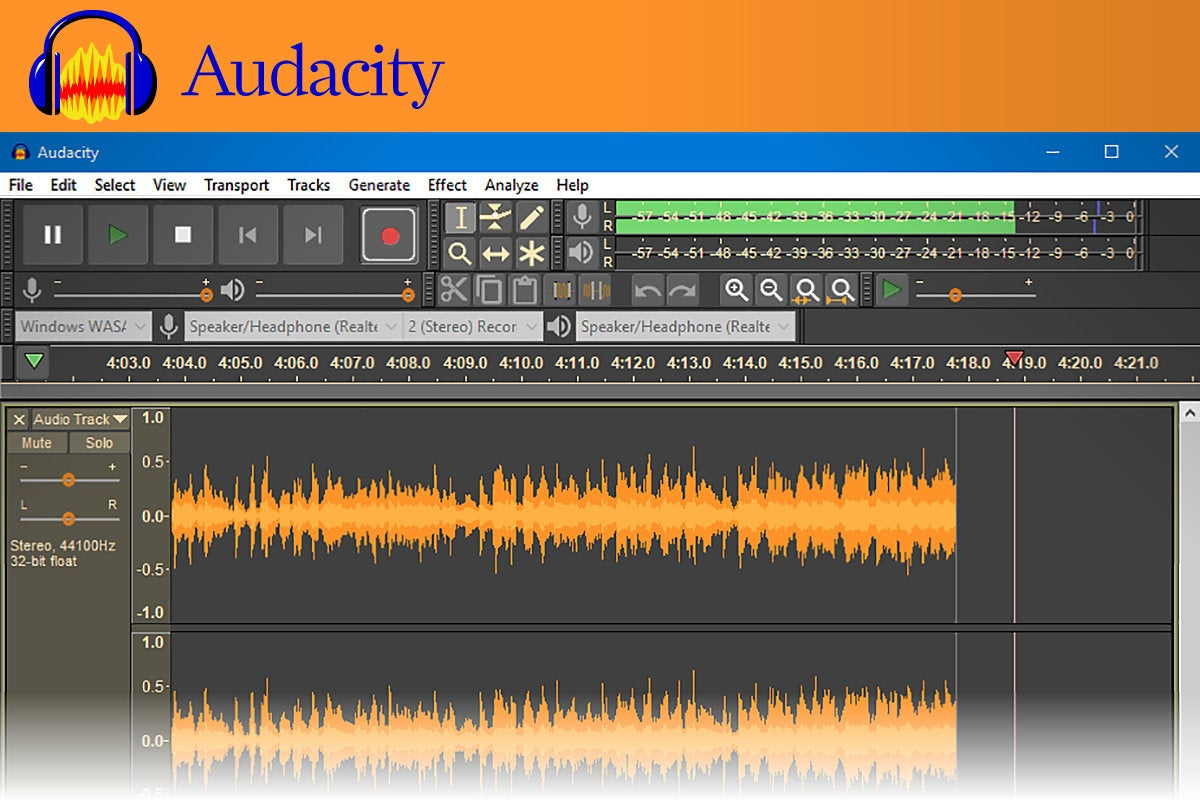 Computerworld  >  Free Apps for Windows 10 > #36 - Audacity