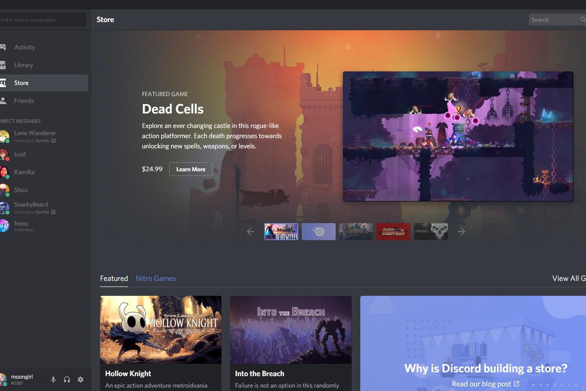 Techmeme: Gaming chat company Discord says its digital game store