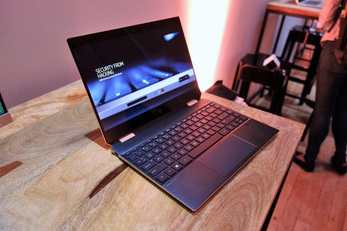 80bc7b5f7 HP Spectre x360 13 (2018) hands on   Whiskey Lake  power sits ...
