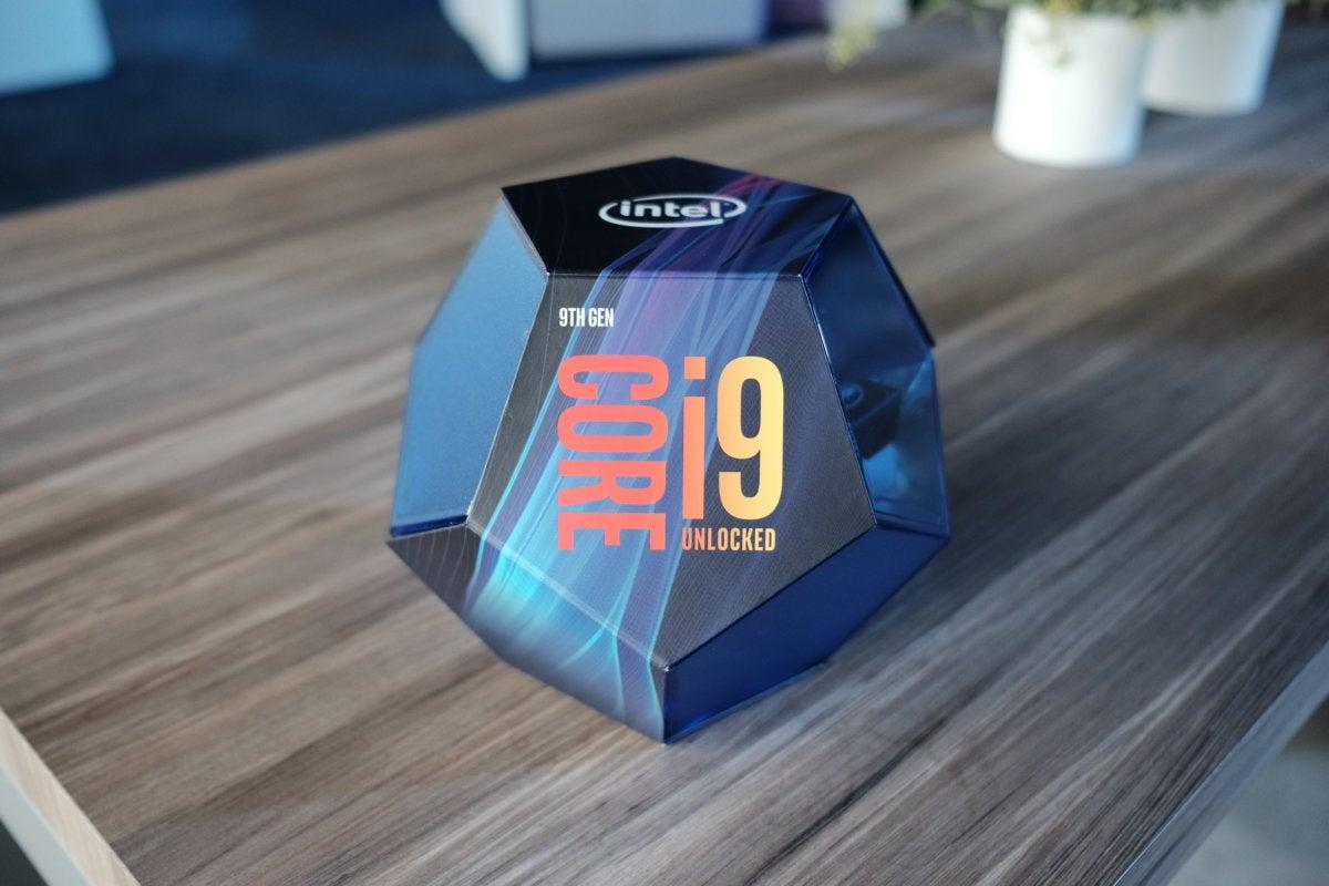 Intel Core i9 9th gen packaging