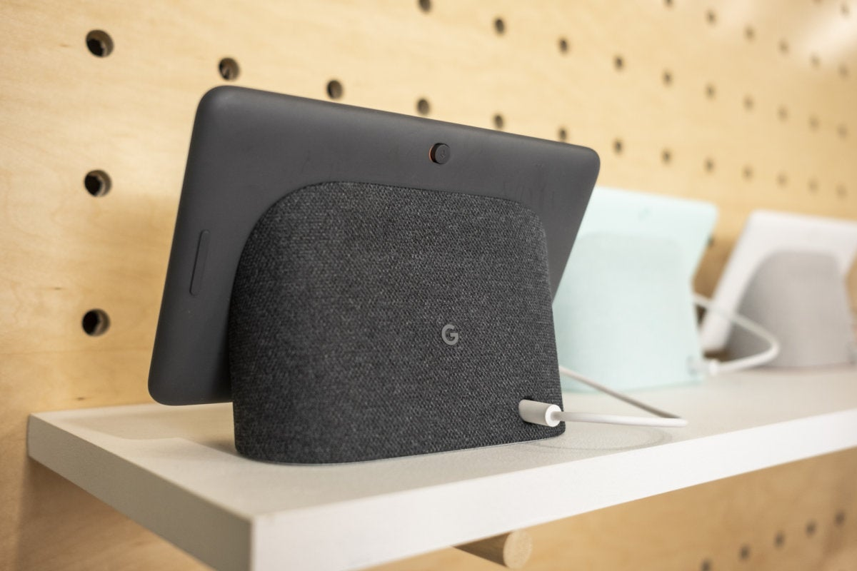 google home hub back