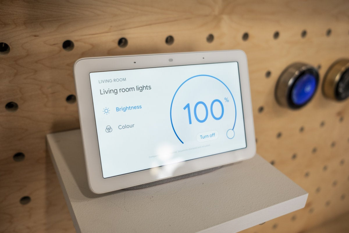 google home hub lights