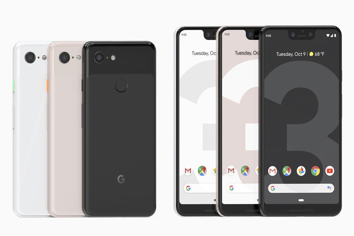 google pixel 3 and 3xl all colors