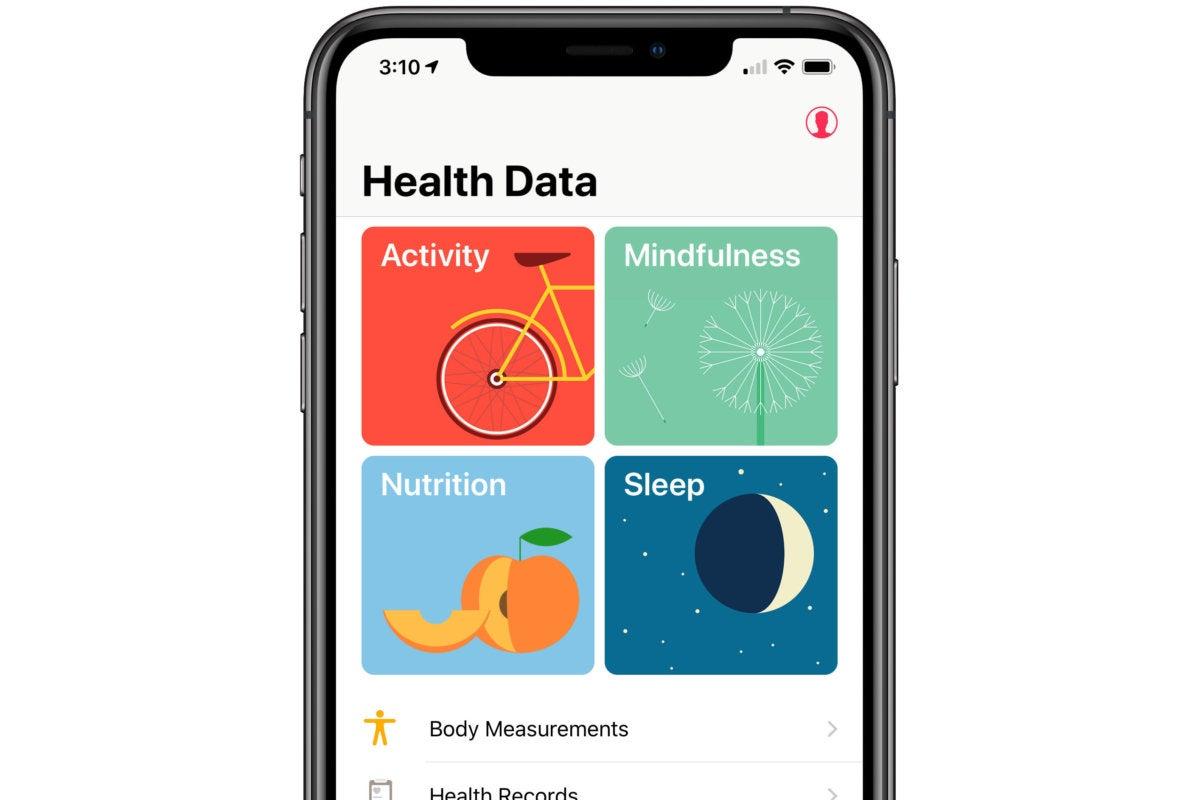 health app four items