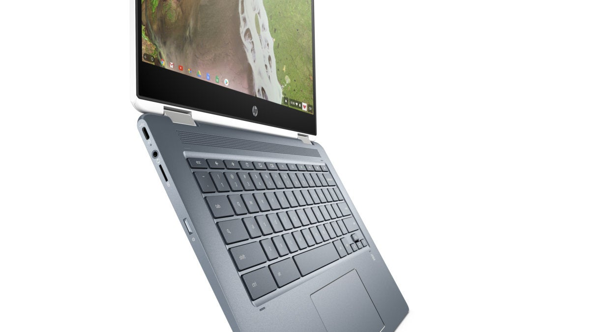 hp chromebook x360 14 open side