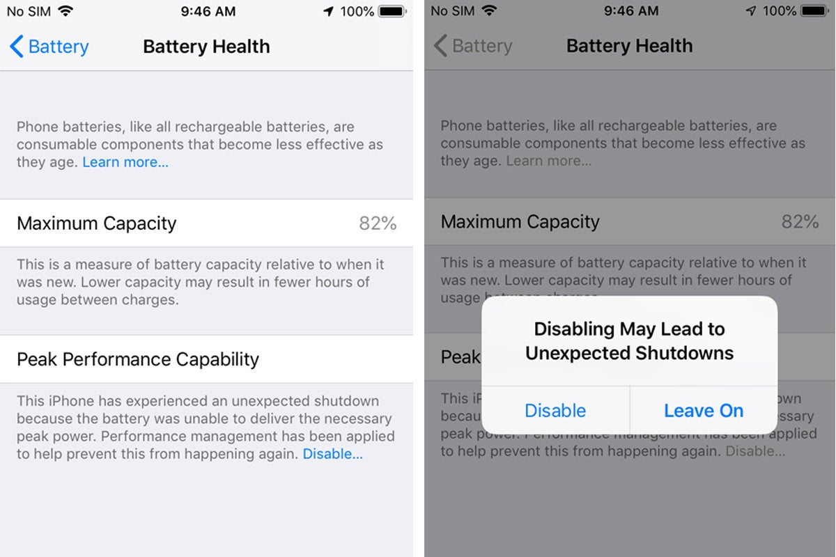 iphone battery perf