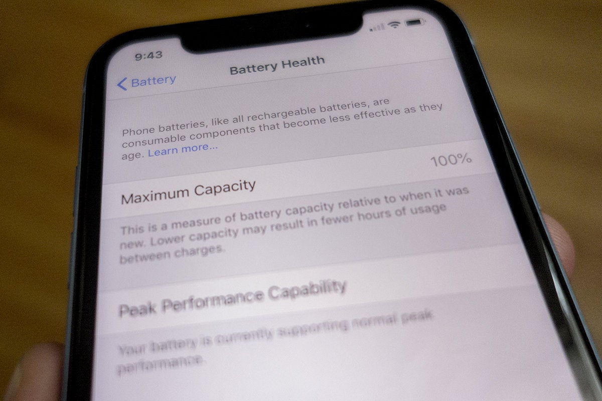 iphone xr battery health