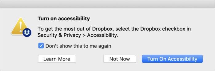 mac911 dropbox accessibility dialog