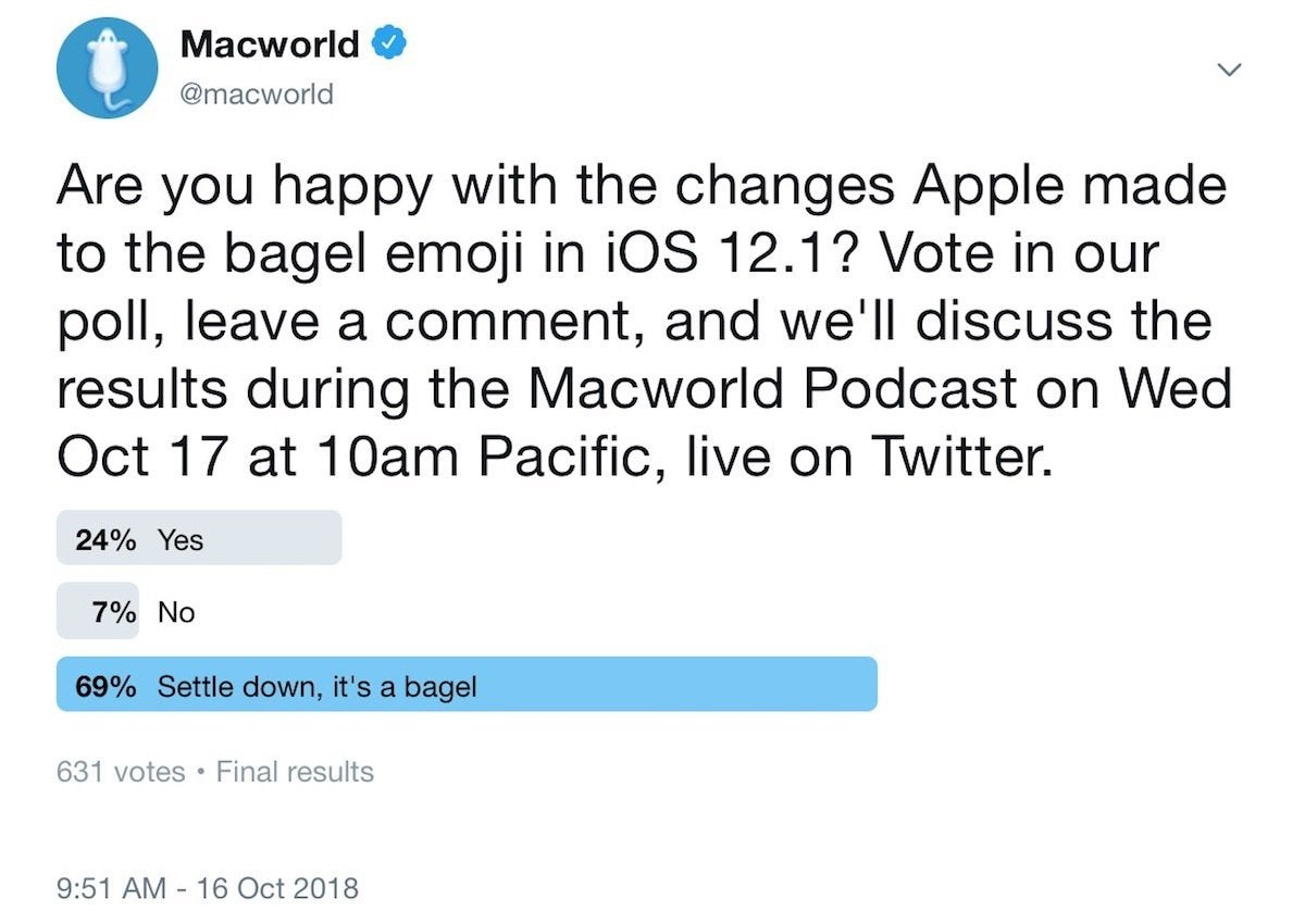 macworld podcast bagel poll 101718