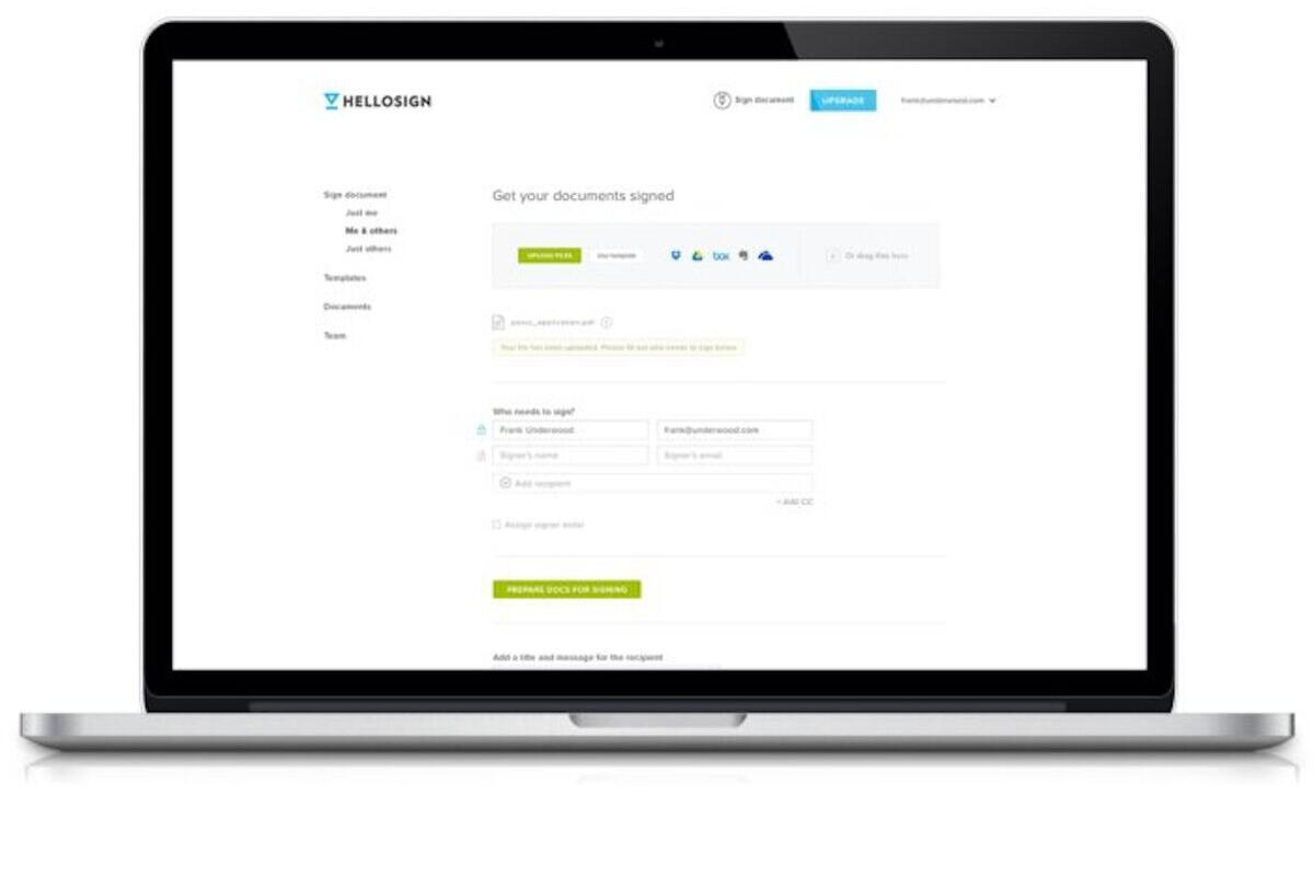 Sign up for HelloSign and Get your First Three ESignatures Free