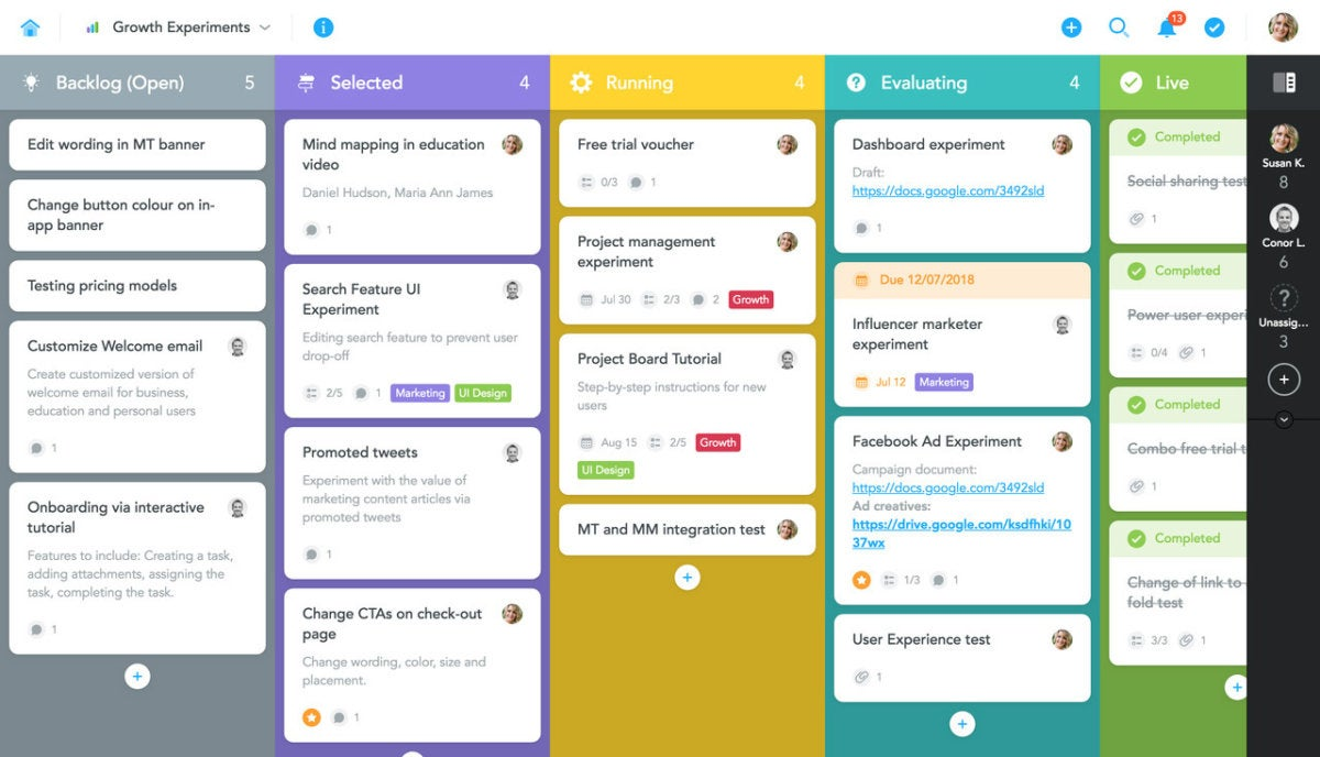 meistertask task card dashboard