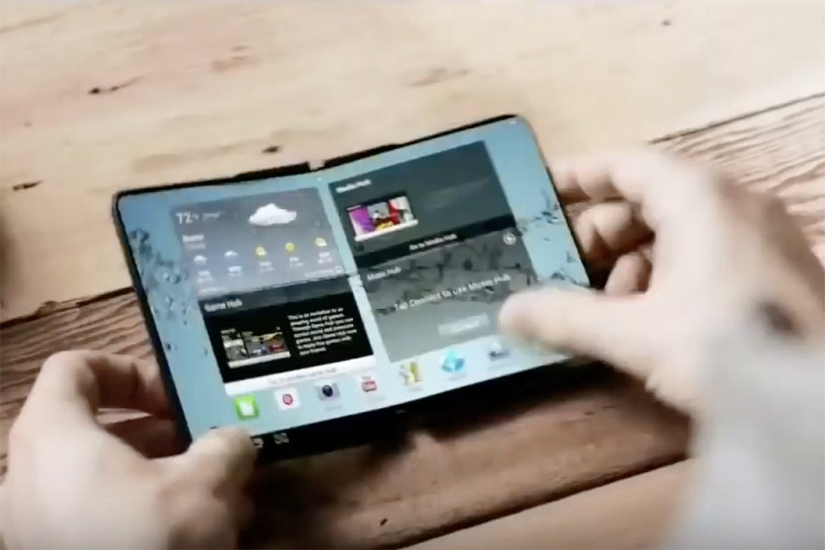 samsung folding phone open