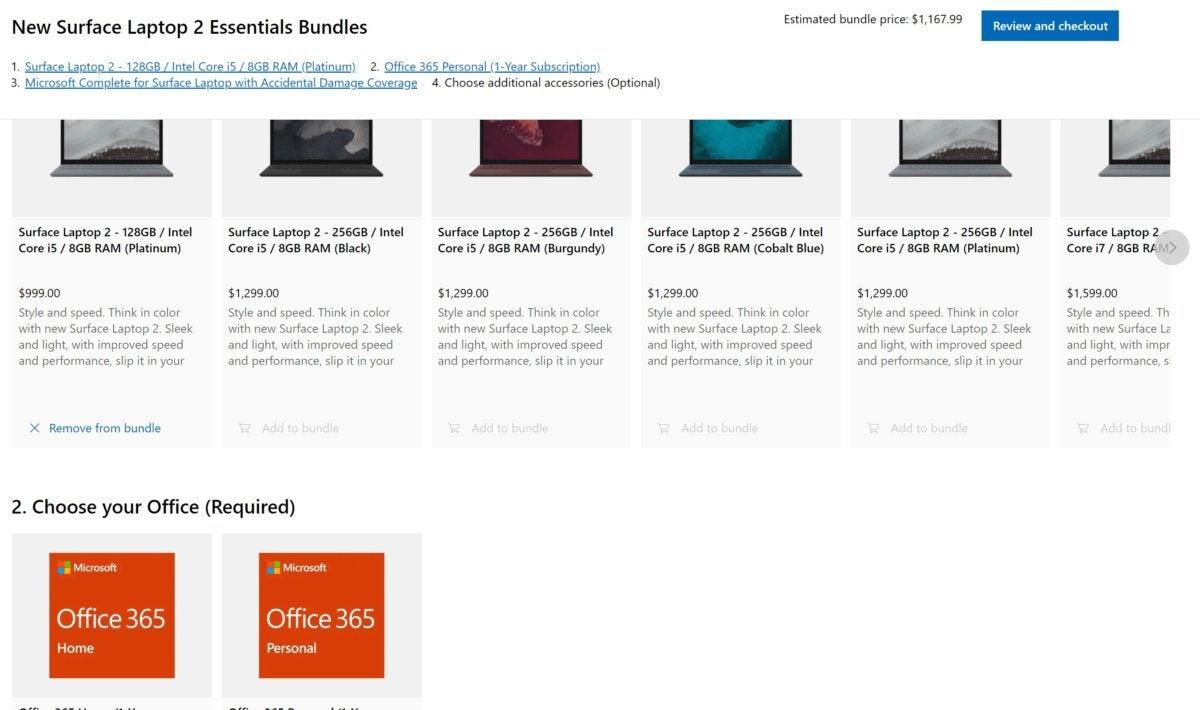 surface laptop 2 essentials