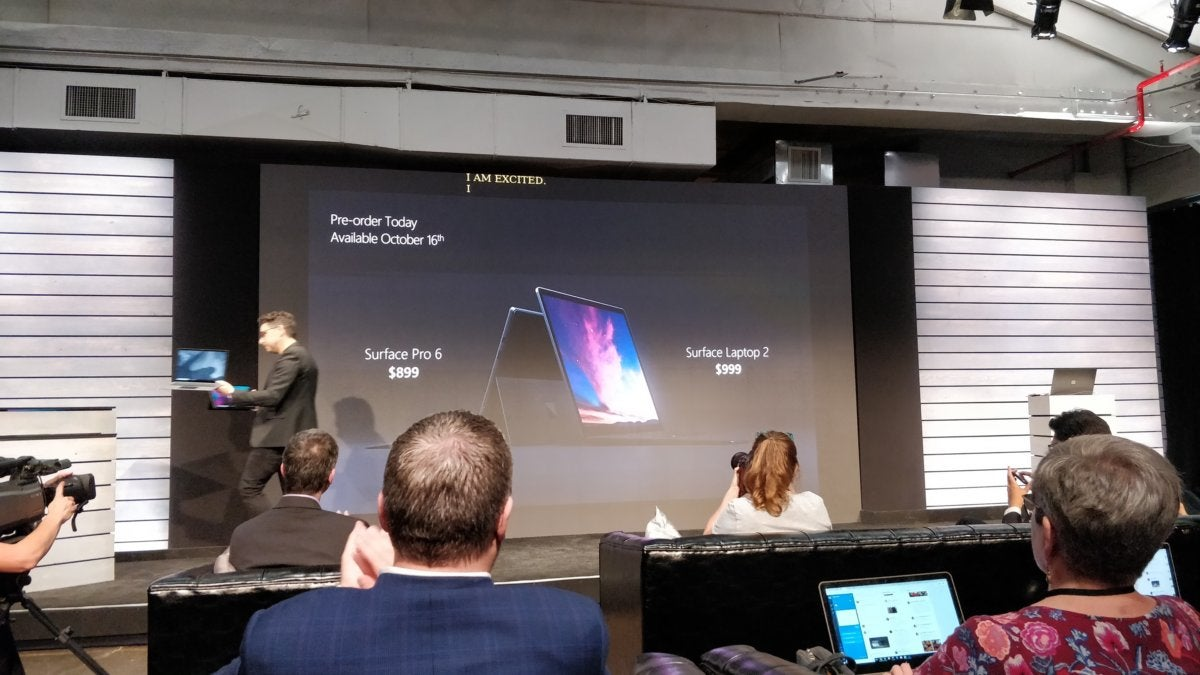 surface pro 6 Surface Laptop 2 pricing