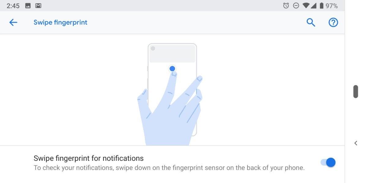 Pixel 3 scan fingerprints