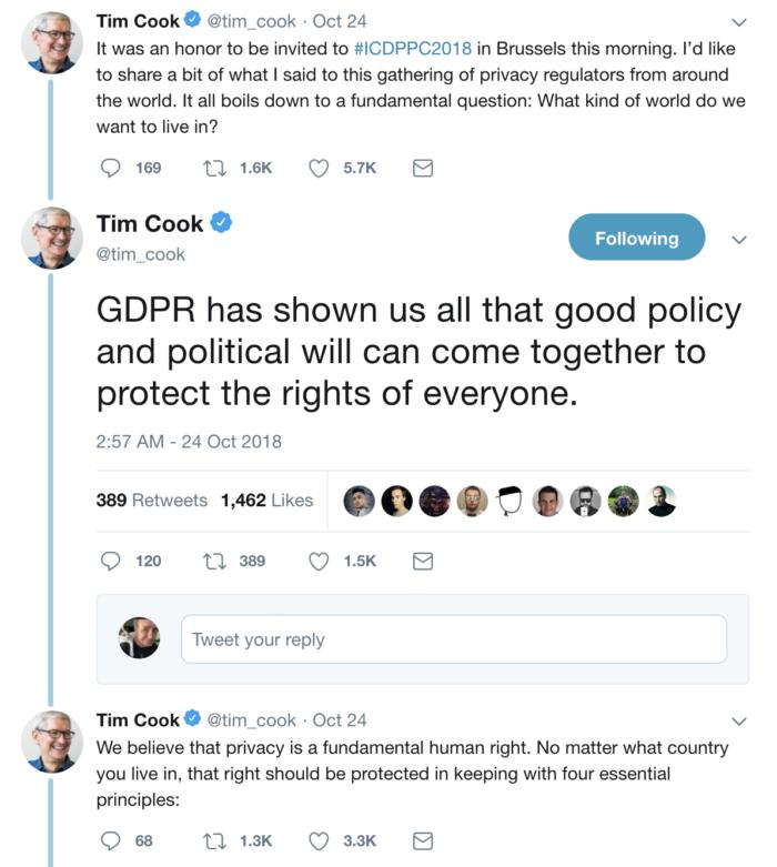tim cook tweets