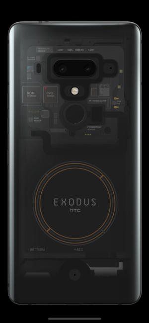 HTC Blockus 1 smartphone from Exodus