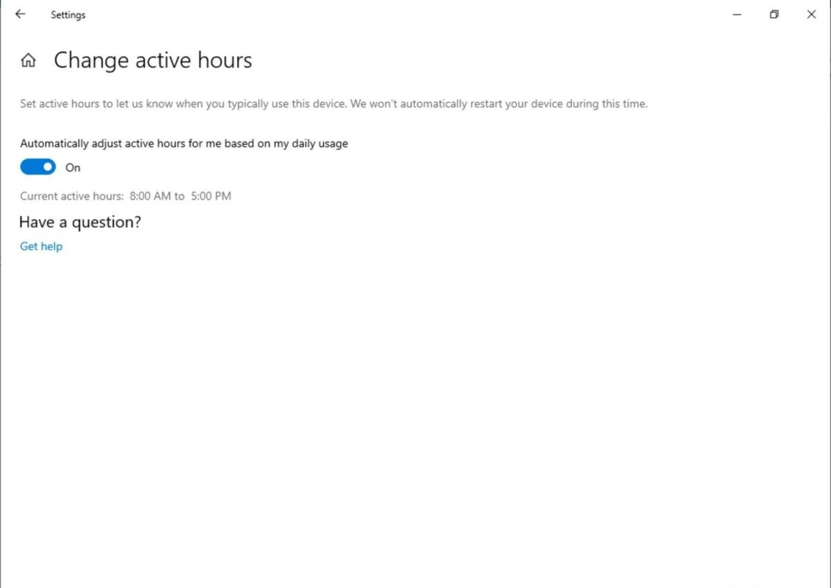 adjust active hours