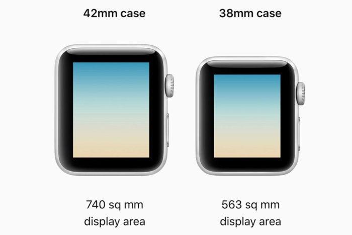 apple watch series 3 case display