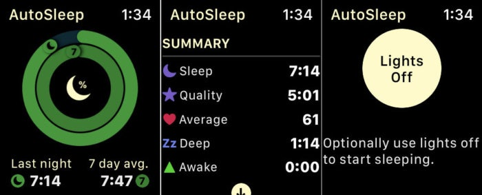 autosleep watch