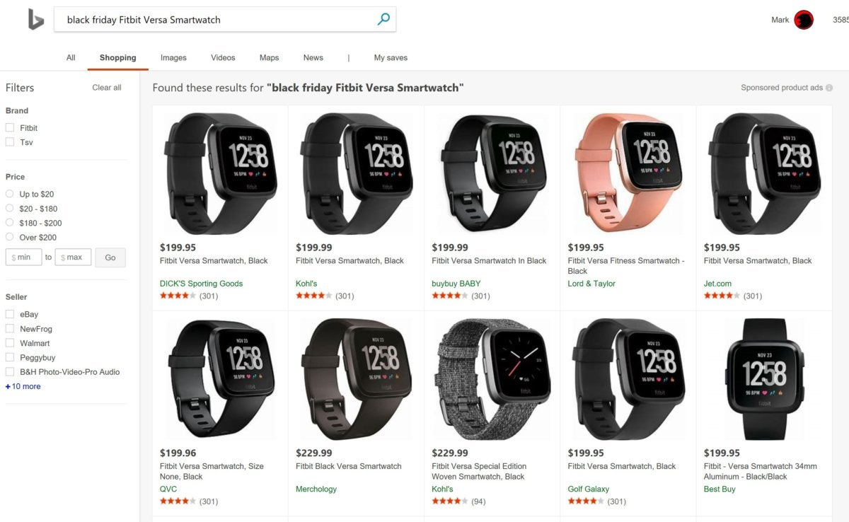 bing black friday smartwatch
