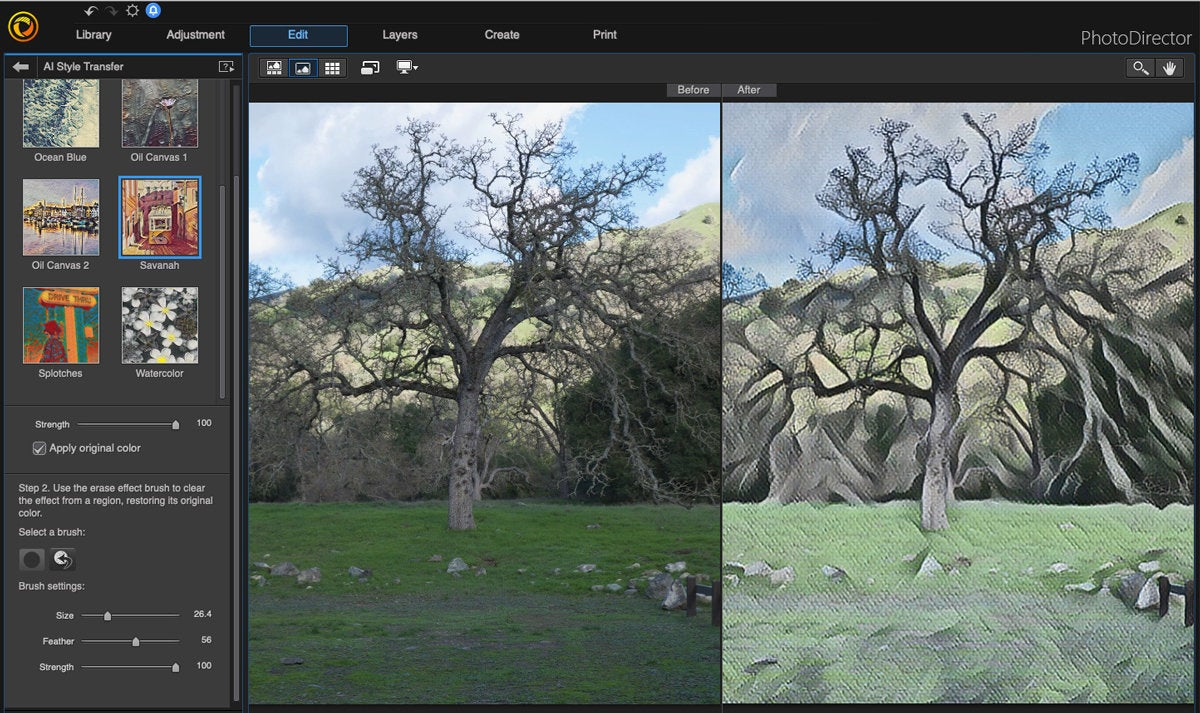 cyberlink photodirector mac ai style transfer
