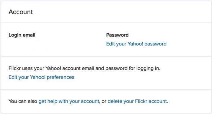 delete flickr account