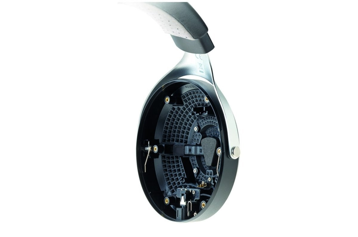 View of the Focal Elegia's closed back ear cup with vent.