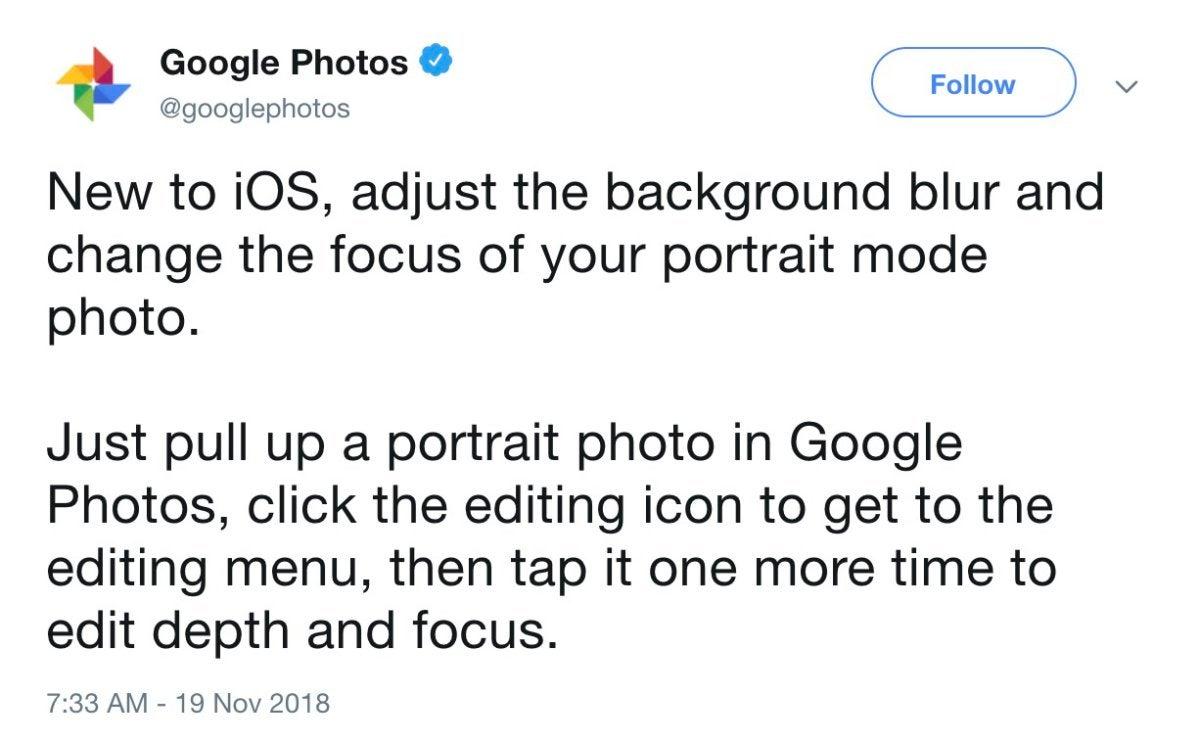 google photos tweet