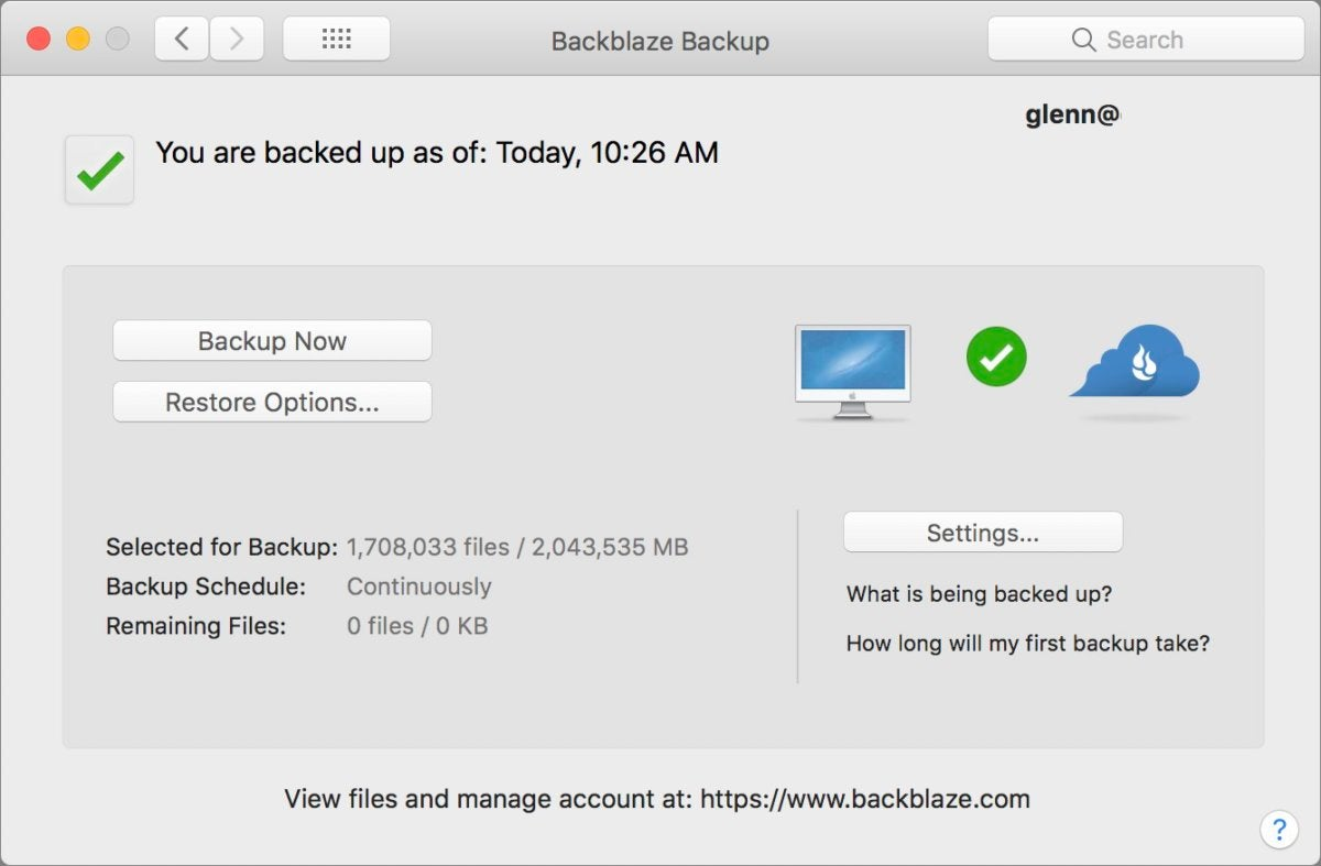 holiday security backblaze prefs