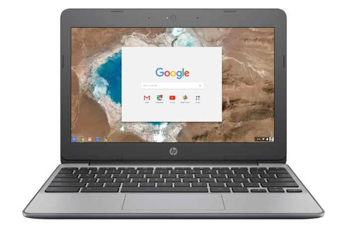 hp chromebook 11 front
