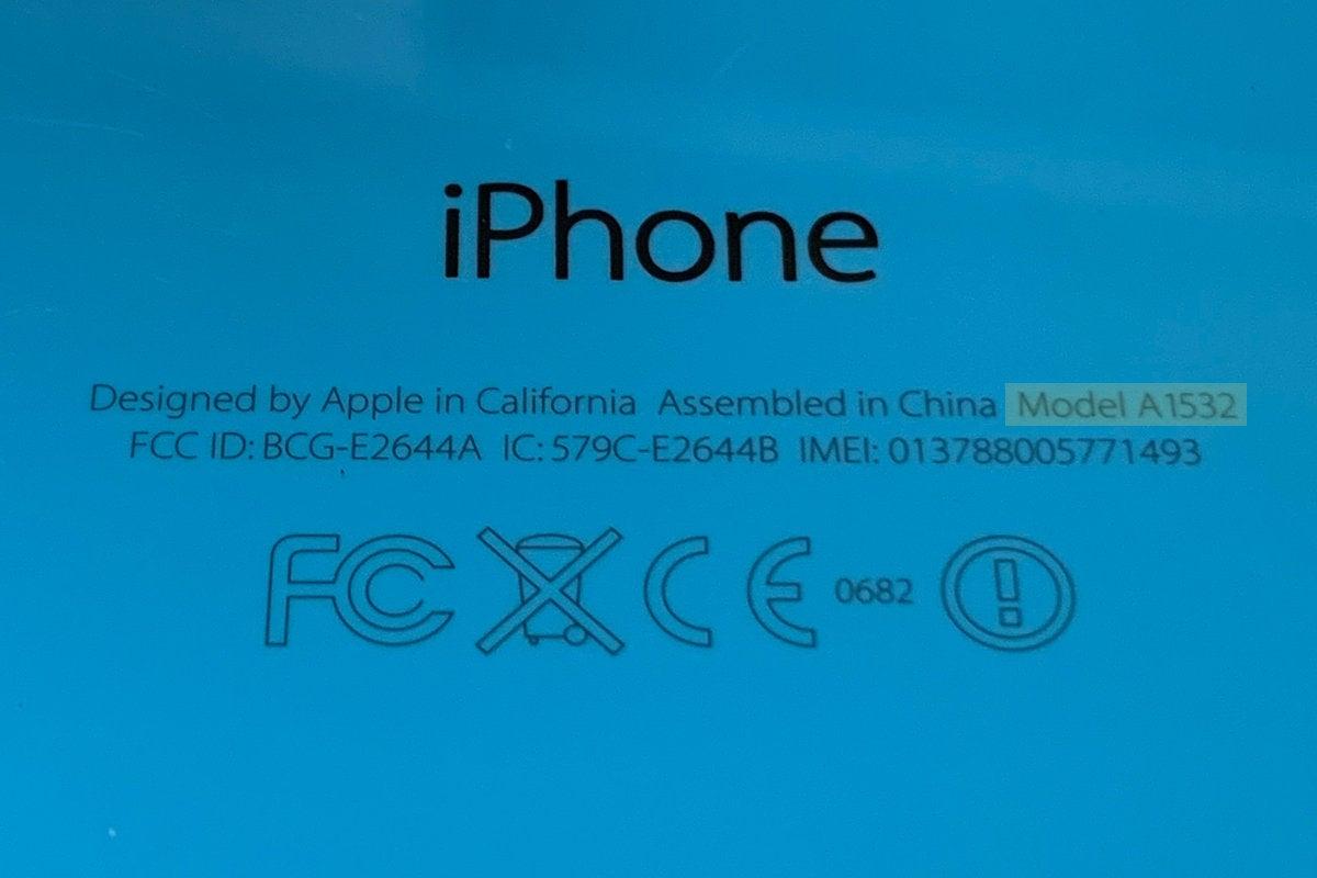 iphone 5c model number