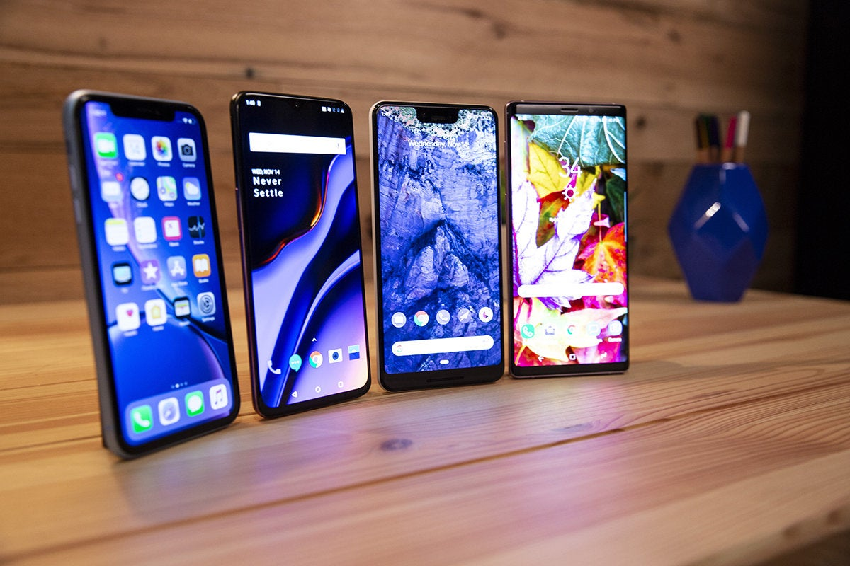 iPhone XR vs Note 9, Pixel 3 XL, and OnePlus 6T: A razor