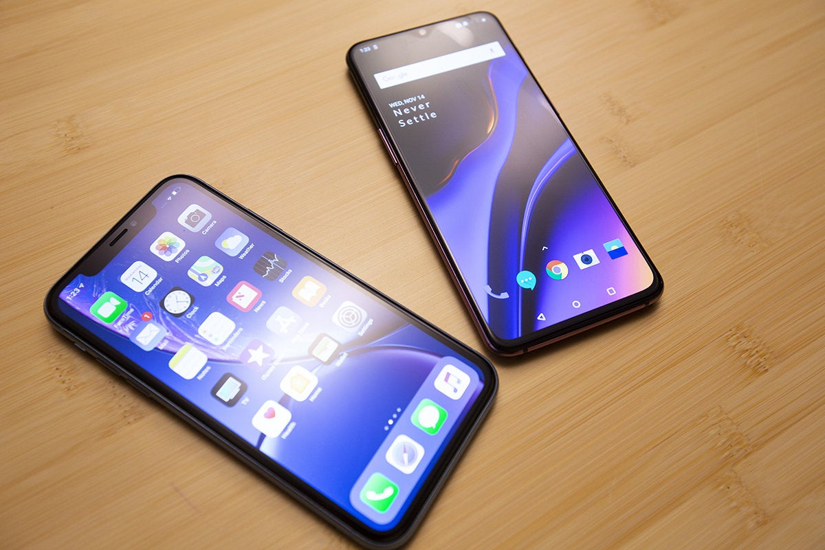iphone xs vs android op 6t