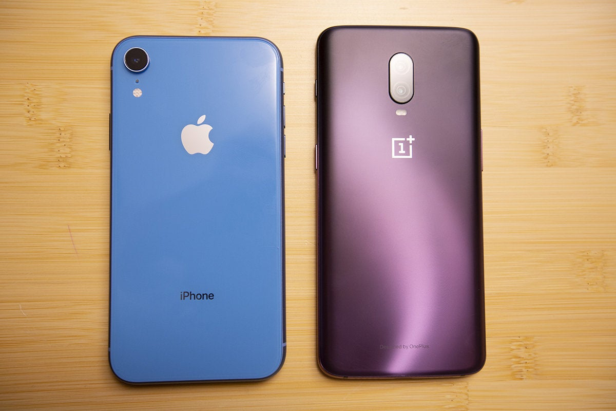 iphone xs vs android purple blue