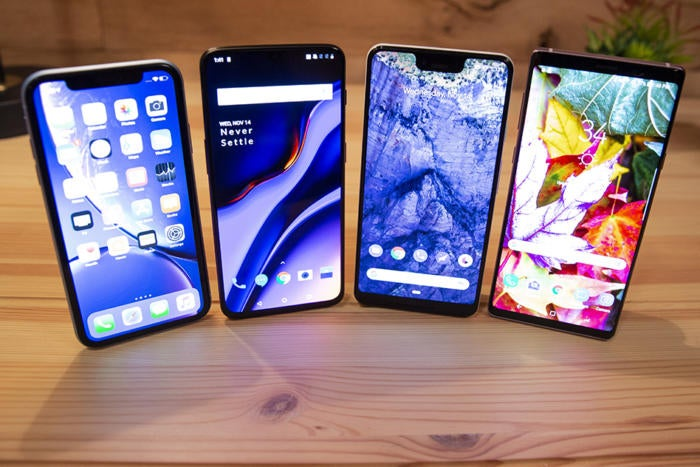 iphone xs vs android screens